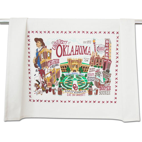 Oklahoma, University of Collegiate Dish Towel Dish Towel catstudio