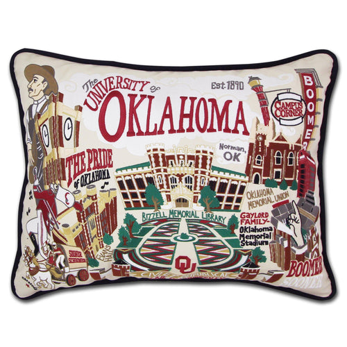 Oklahoma, University of Collegiate Embroidered Pillow Pillow catstudio