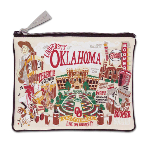 Oklahoma, University of Collegiate Zip Pouch - catstudio