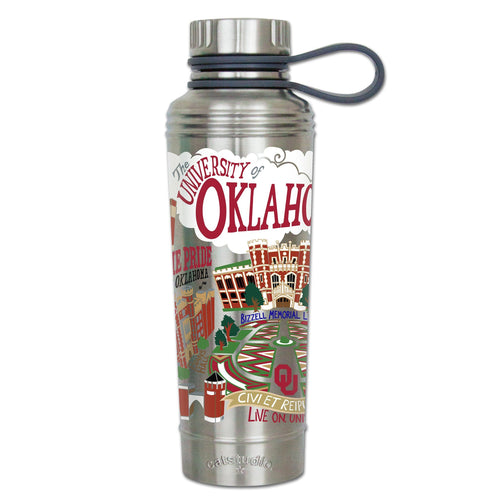 Oklahoma, University of Collegiate Thermal Bottle - catstudio