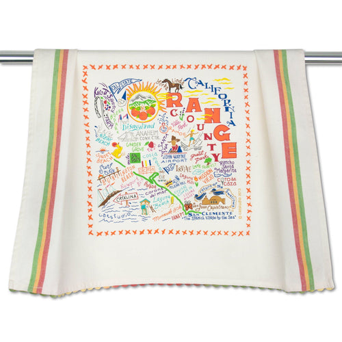 Orange County Dish Towel - catstudio
