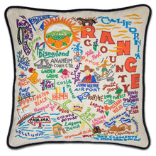Load image into Gallery viewer, Orange County Hand-Embroidered Pillow Pillow catstudio
