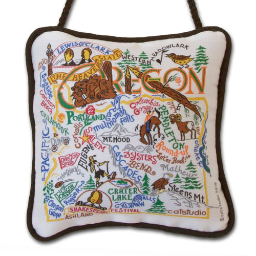 Oregon Mini Pillow Ornament - catstudio
