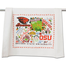 Load image into Gallery viewer, Oregon State University Collegiate Dish Towel - catstudio