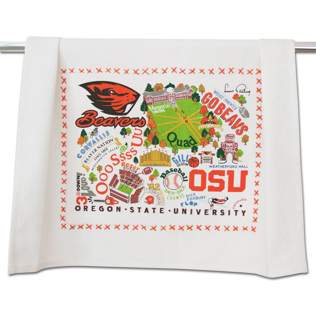 Oregon State University Collegiate Dish Towel Dish Towel catstudio