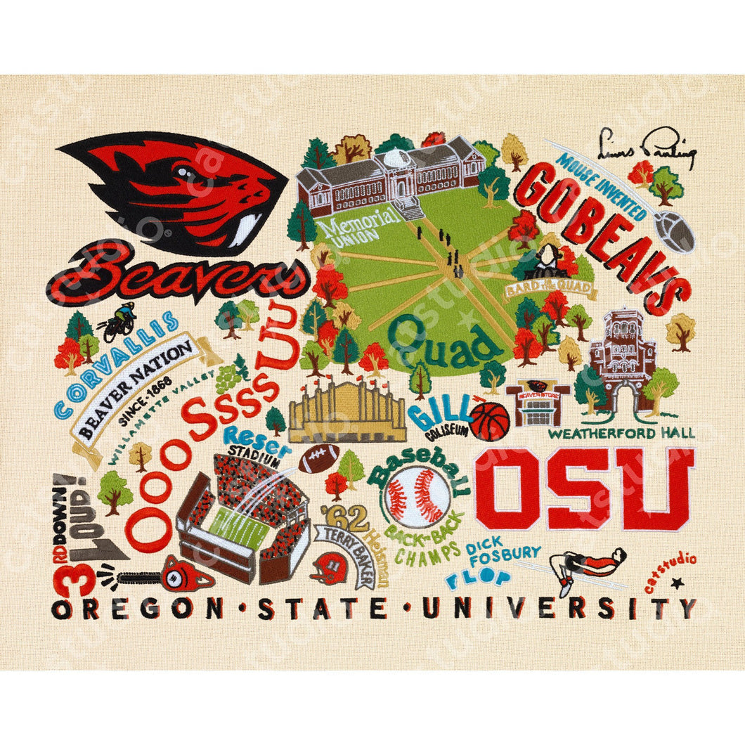 Oregon State University Collegiate Fine Art Print - catstudio