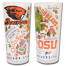 Load image into Gallery viewer, Oregon State University Collegiate Drinking Glass - catstudio
