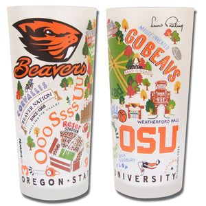 Oregon State University Collegiate Drinking Glass - catstudio