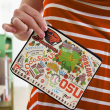 Load image into Gallery viewer, Oregon State University Collegiate Zip Pouch - catstudio