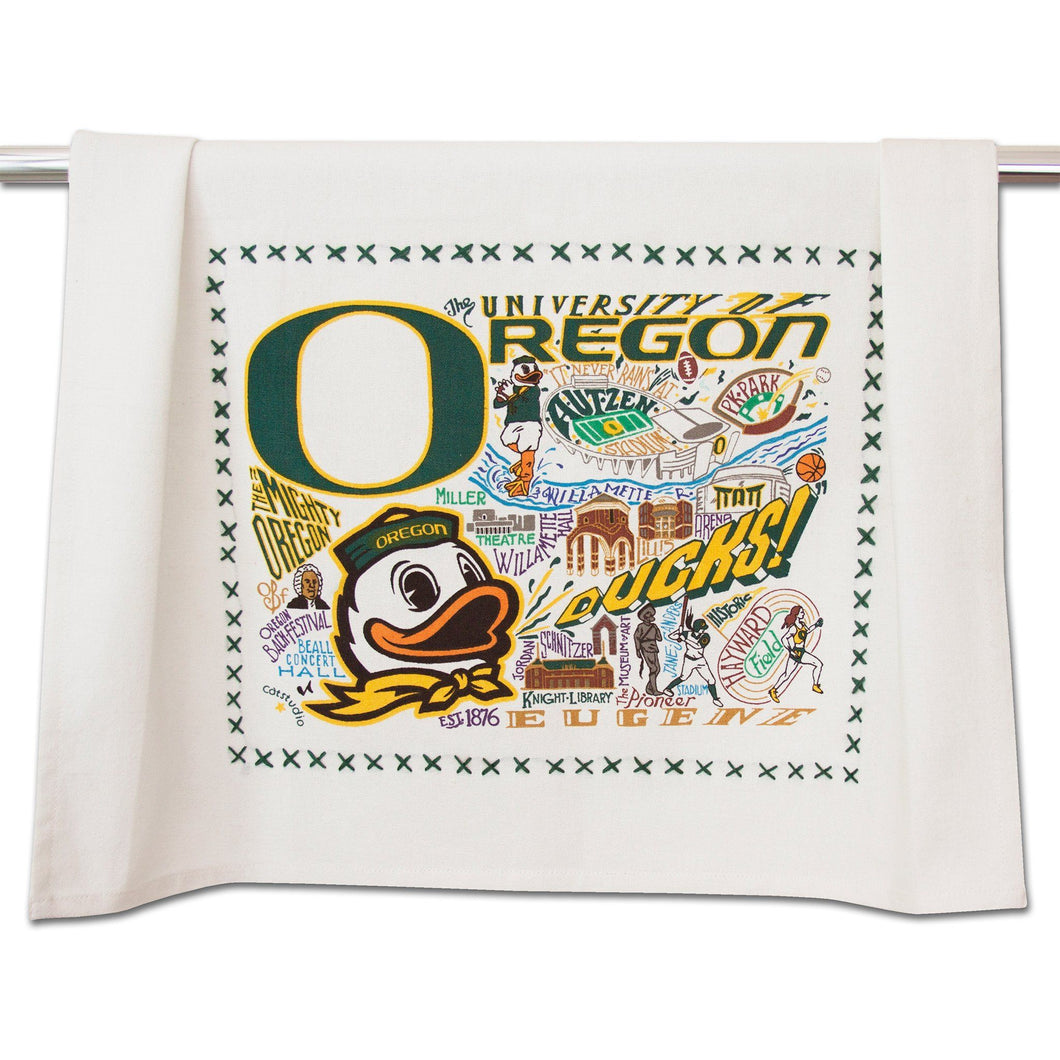 Oregon, University of Collegiate Dish Towel - catstudio