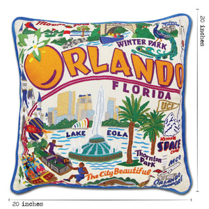 Orlando Hand-Embroidered Pillow - catstudio