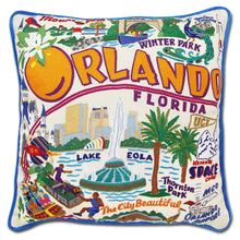 Load image into Gallery viewer, Orlando Hand-Embroidered Pillow Pillow catstudio