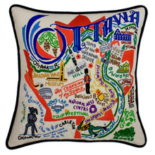 Load image into Gallery viewer, Ottawa Hand-Embroidered Pillow - catstudio