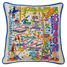 Load image into Gallery viewer, Palm Beach Hand-Embroidered Pillow - catstudio