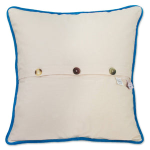 Palm Beach Hand-Embroidered Pillow - catstudio
