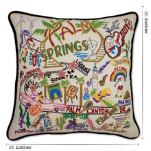 Load image into Gallery viewer, Palm Springs Hand-Embroidered Pillow - catstudio