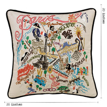 Load image into Gallery viewer, Paris Hand-Embroidered Pillow - catstudio