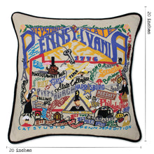 Load image into Gallery viewer, Pennsylvania Hand-Embroidered Pillow - catstudio