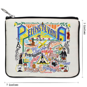 Pennsylvania Zip Pouch - Natural - catstudio