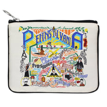 Load image into Gallery viewer, Pennsylvania Zip Pouch - Natural - catstudio