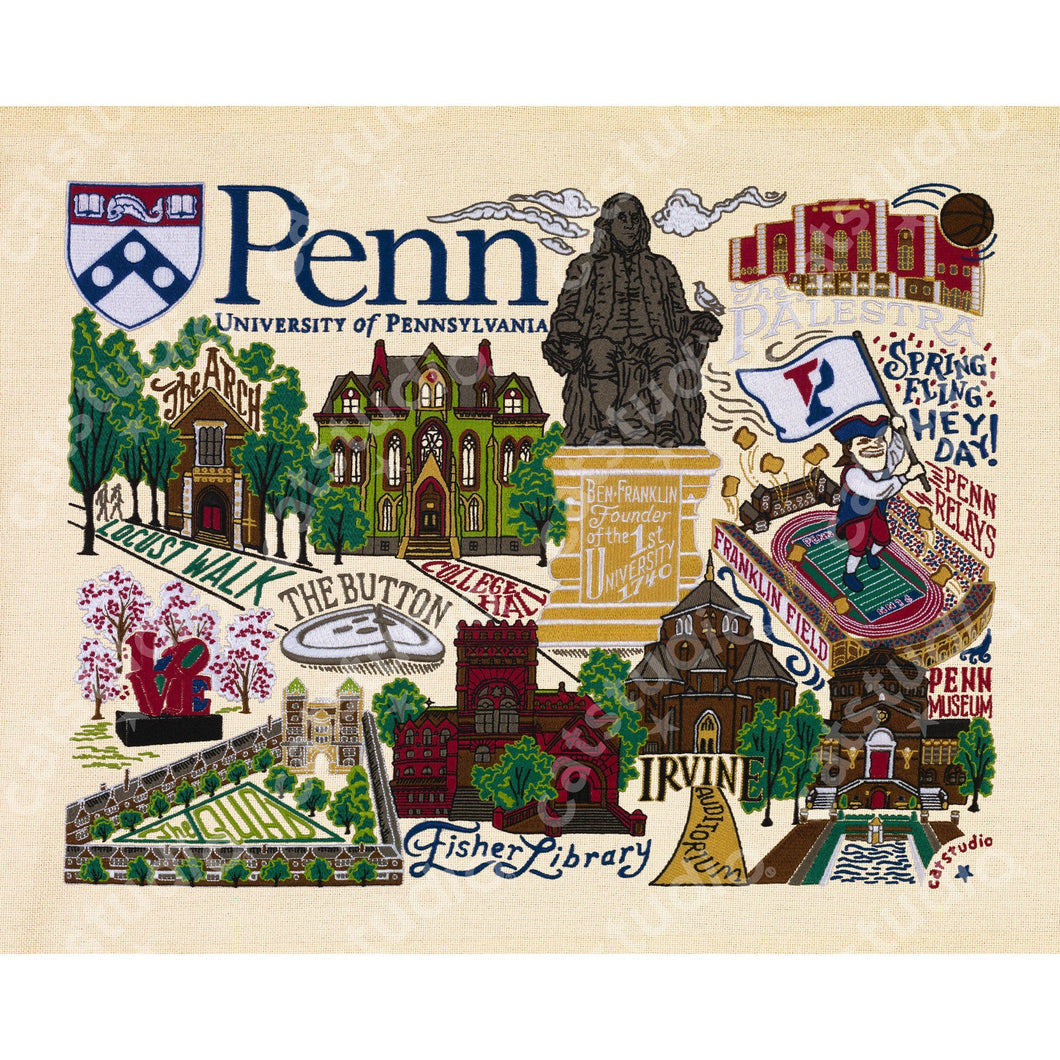 Pennsylvania, University of Collegiate Fine Art Print - catstudio