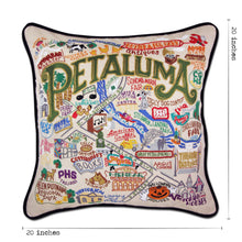 Load image into Gallery viewer, Petaluma Hand-Embroidered Pillow - catstudio