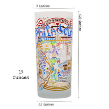 Load image into Gallery viewer, Philadelphia Drinking Glass - catstudio