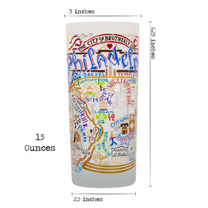 Philadelphia Drinking Glass - catstudio