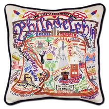Load image into Gallery viewer, Philadelphia Hand-Embroidered Pillow Pillow catstudio