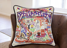Load image into Gallery viewer, Philadelphia Hand-Embroidered Pillow - catstudio