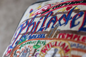 Philadelphia Hand-Embroidered Pillow Pillow catstudio
