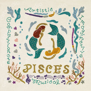 Pisces Astrology Fine Art Print - catstudio