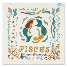 "Load image into Gallery viewer, Pisces Astrology Fine Art Print Art Print catstudio 8""x8"""