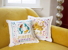 Load image into Gallery viewer, Pisces Astrology Hand-Embroidered Pillow - catstudio