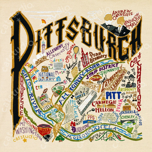 Pittsburgh Fine Art Print - catstudio