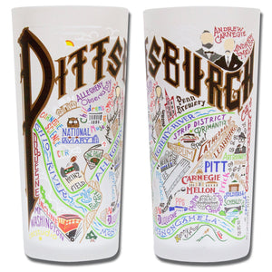 Pittsburgh Drinking Glass - catstudio