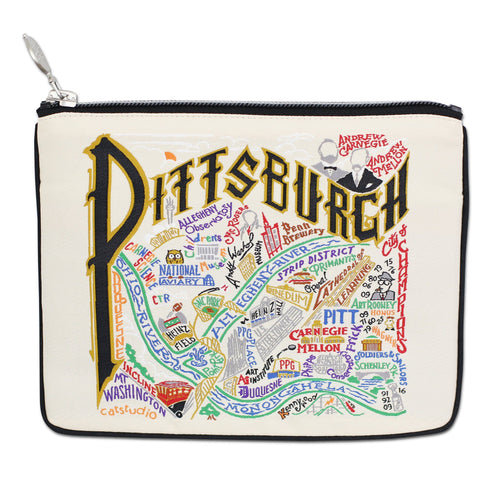 Pittsburgh Zip Pouch - Natural - catstudio