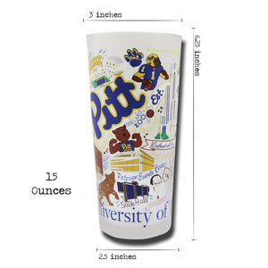 Pittsburgh, University of Collegiate Drinking Glass - catstudio