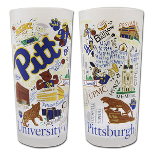 Pittsburgh, University of Collegiate Drinking Glass - Coming Soon! Glass catstudio