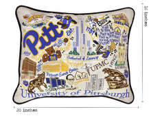 Load image into Gallery viewer, Pittsburgh, University of Collegiate Embroidered Pillow - catstudio