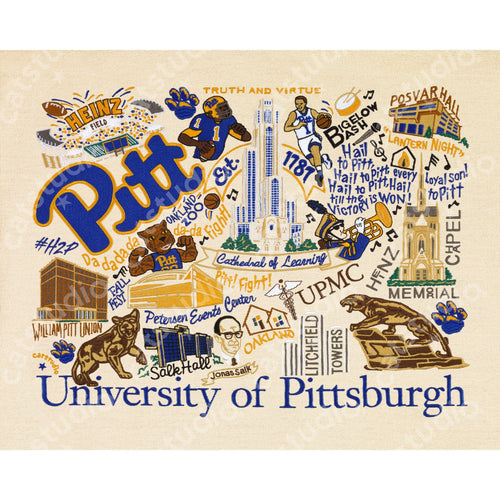 Pittsburgh, University of Collegiate Fine Art Print - catstudio