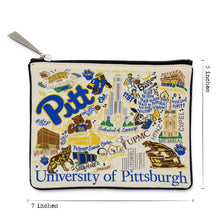Load image into Gallery viewer, Pittsburgh, University of Collegiate Zip Pouch - catstudio