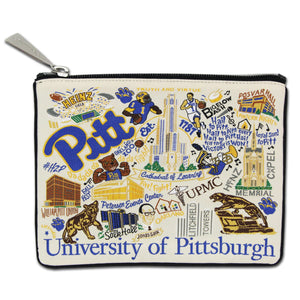 Pittsburgh, University of Collegiate Zip Pouch - catstudio