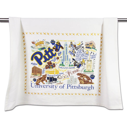 Pittsburgh, University of Collegiate Dish Towel - catstudio