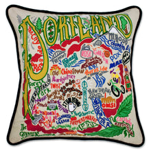 Load image into Gallery viewer, Portland Hand-Embroidered Pillow Pillow catstudio