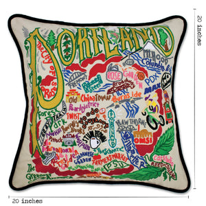 Portland Hand-Embroidered Pillow Pillow catstudio