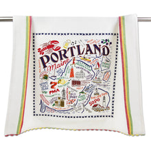 Load image into Gallery viewer, Portland, ME Dish Towel - catstudio