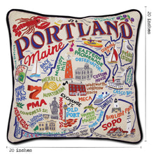 Load image into Gallery viewer, Portland, ME Hand-Embroidered Pillow Pillow catstudio