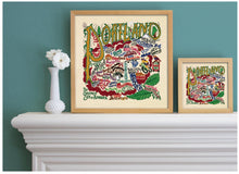 "Load image into Gallery viewer, Portland, OR Fine Art Print Art Print catstudio 16""x16"" - Framed"