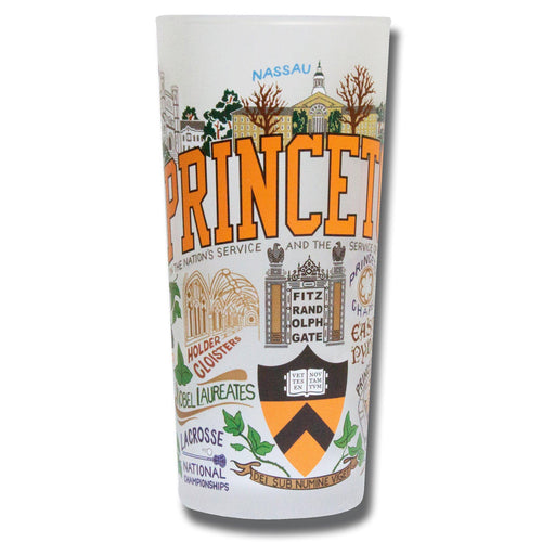 Princeton University Collegiate Drinking Glass - catstudio
